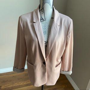 Jules & Leopold Blush pink single button blazer XL